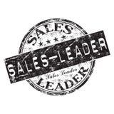 De leiders rubberzegel van de verkoop Stock Afbeelding