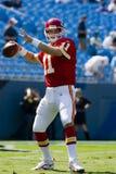 De Leiders van de Stad van NFL Kansas versus de Panters van Carolina Stock Foto's