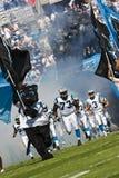 De Leiders van de Stad van NFL Kansas versus de Panters van Carolina Stock Afbeeldingen