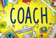 De Leidersmanager Tutor Concept van buscoaching guide instructor vector illustratie