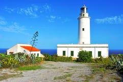 De lejano la Mola en Formentera, Balearic Island, España Imagen de archivo