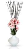 De leliebloemen van de amaryllis in een vaas Royalty-vrije Stock Afbeelding
