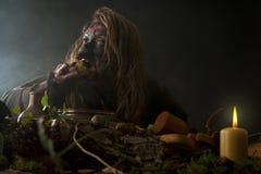 De lelijke Heks eet onkruid stock fotografie