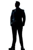 De lengte knappe volledige kostuum van de mens volledige status Royalty-vrije Stock Afbeeldingen