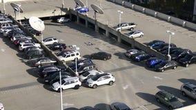 De Lengte van de veiligheidscamera van Parkeerterrein stock videobeelden