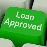 De lening keurde Zeer belangrijk goed toont Krediet Lenende Overeenkomst stock foto