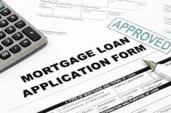 De lening van de hypotheek stock fotografie