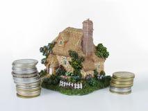 De lening van het huis - huis Stock Afbeeldingen