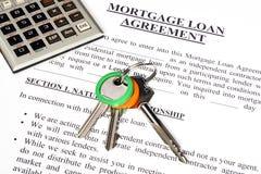 De leningsaanvraagformulier van de hypotheek Royalty-vrije Stock Fotografie