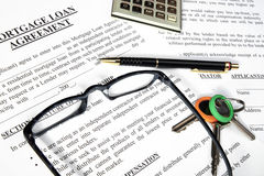 De leningsaanvraagformulier van de hypotheek Royalty-vrije Stock Foto