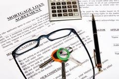 De leningsaanvraagformulier van de hypotheek Royalty-vrije Stock Afbeelding