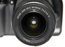 De lens dichte omhooggaand van Dslr Stock Afbeelding