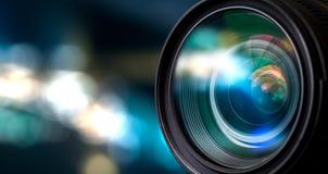 De lens van de camera