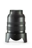 De lens van de camera op witte achtergrond Stock Fotografie