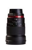 De lens van de camera op witte achtergrond Royalty-vrije Stock Afbeeldingen