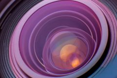 De lens van de camera Sluit omhoog foto Royalty-vrije Stock Fotografie