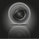 De lens van de camerafoto, vector Stock Fotografie
