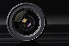 De lens van de foto