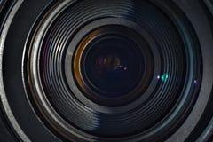 De lens van een camera stock foto