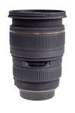 De lens van moderne digitale camera, zijaanzicht Stock Afbeeldingen
