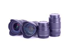 De lens zet op Stock Foto