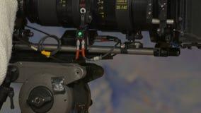 De de lensreeks van de filmcamera stock footage