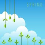De lente Achtergrondpictogram Stock Foto's