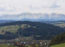 De lente in berg Royalty-vrije Stock Afbeeldingen