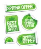 De lente biedt stickers aan. Stock Afbeelding