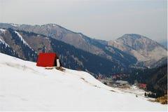 De lente bij de skitoevlucht Stock Afbeelding