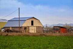 De lente bij het landbouwbedrijf Royalty-vrije Stock Foto's