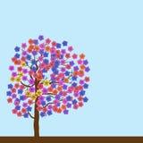 De lente bloeiende boom vector illustratie