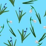 De lente bloemen naadloos patroon Royalty-vrije Stock Foto