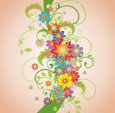 De lente bloemengrens royalty-vrije illustratie
