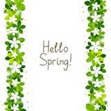 De lente bloemengrens vector illustratie