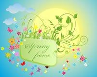 De lente bloemenkader vector illustratie