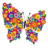 De lente bloemenvlinder stock illustratie