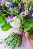 De lente boquet van bloemen voor heden Royalty-vrije Stock Afbeeldingen