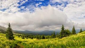 De lente in de bergen van Zuidenural Royalty-vrije Stock Afbeeldingen