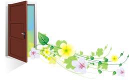 De lente is in de deur Stock Foto