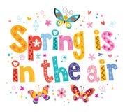 De lente is in de lucht stock illustratie