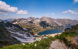 de lente in de Tatra-Bergen Royalty-vrije Stock Foto's