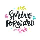 De lente door:sturen citaat Moderne kalligrafie vector illustratie