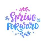 De lente door:sturen citaat Seizoengebonden hand geschreven het van letters voorzien royalty-vrije illustratie