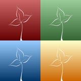 De lente doorbladert Stock Foto's