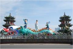 De lente en Autumn Pavilions royalty-vrije stock afbeeldingen