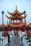 De Lente en Autumn Pavilions op Lotus Lake in Taiwan stock afbeeldingen