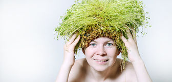 De lente en ecovrouw Stock Fotografie