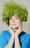 De vrouw van de lente en van eco Royalty-vrije Stock Foto's