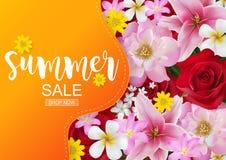 De lente en de zomerverkoopconcept royalty-vrije illustratie